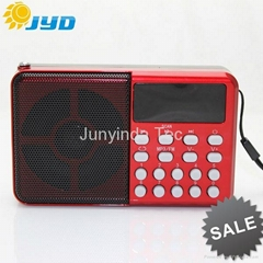 A12 Cheap FM Radio with Micro SD Card Mini Speakers