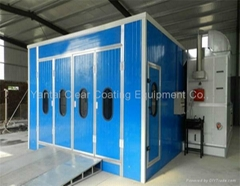 factory price auto spray booth with Riello burner