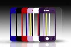 Colorful Frame Tempered Glass Screen Protector for iPhone5/5s,