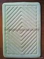 Embroidery Threaded Coral Fleece Memory Foam Bath Mat 1