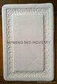Embroidery Threaded Coral Fleece Memory Foam Bath Mat 2