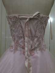 K2001  New Arival Strapless Sweetheart Beaded Chiffon Long Prom Dress