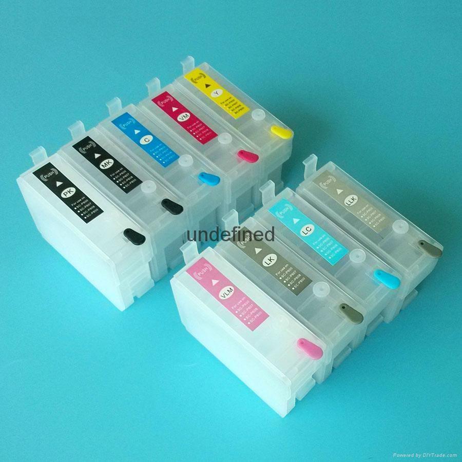 新品上市! 兼容EPSON Surecolor SC-P600 T7601-T7609 填充墨盒带永久芯片 3