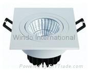 LED square celling spot light 1507 7W 690lm