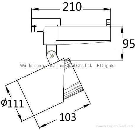 25W、35W COB Track Light CITIZEN CE&ROHS 2