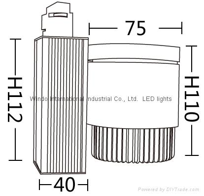 15W COB Track Light WING0301A1-15W 2