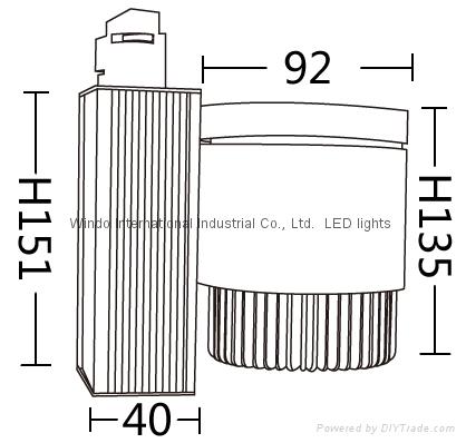 25W COB Track Light CREE 2520 CE&ROHS 2