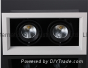 2*7W 2*9w led Grille downlight,HPL&CITIZEN COB