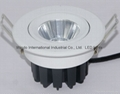 5W 7W Led COB ceiling downlight,White