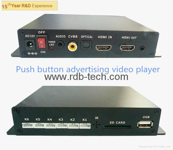 1080P advertising media player with digital optical 5.1  3