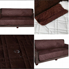 Surefit quilted Micro suede micro polyester reversible Waterproof Furniture Prot