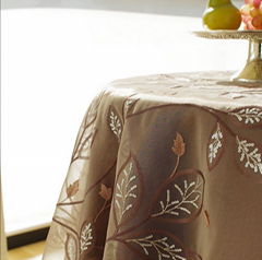 100% cotton pastoral green cheap tablecloth with high quality table cover polyes