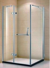 Popular Safety Tempered Glass Customized Bathroom Prefab Shower Room