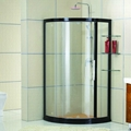 Arc Tempered Glass Black Bathroom Shower