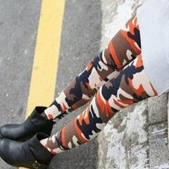 WL-131 春夏韩版印花牛奶丝九分裤
