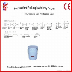 10-25L Paint Tin Conical Pail Can Making Line