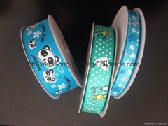 satin ribbon printed