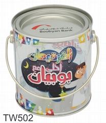 PVC Handy Kids Gift Tin Bucket with Christmas Design PVC Candy Tin Bucket PVC Pa