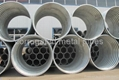 Annular flanged corrugated metal pipe 1