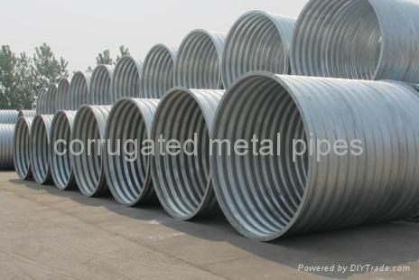 Annular flanged corrugated metal pipe 2