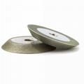 單斜邊電鍍磨刀砂輪 1V1-7