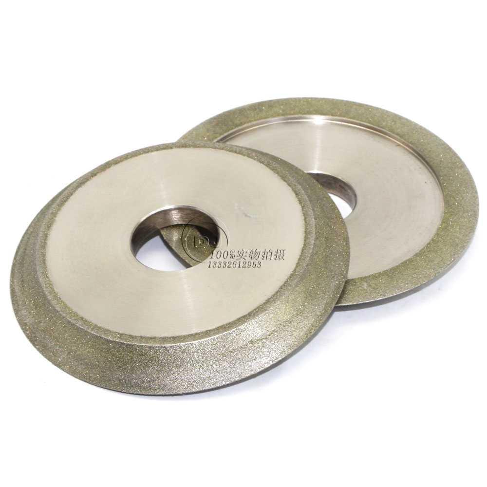 研磨鎢鋼銑刀用電鍍斜邊砂輪 126D*12T*32H*45V 1