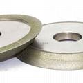 研磨鎢鋼銑刀用電鍍斜邊砂輪 126D*12T*32H*45V 2