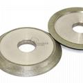 研磨鎢鋼銑刀用電鍍斜邊砂輪 126D*12T*32H*45V 3