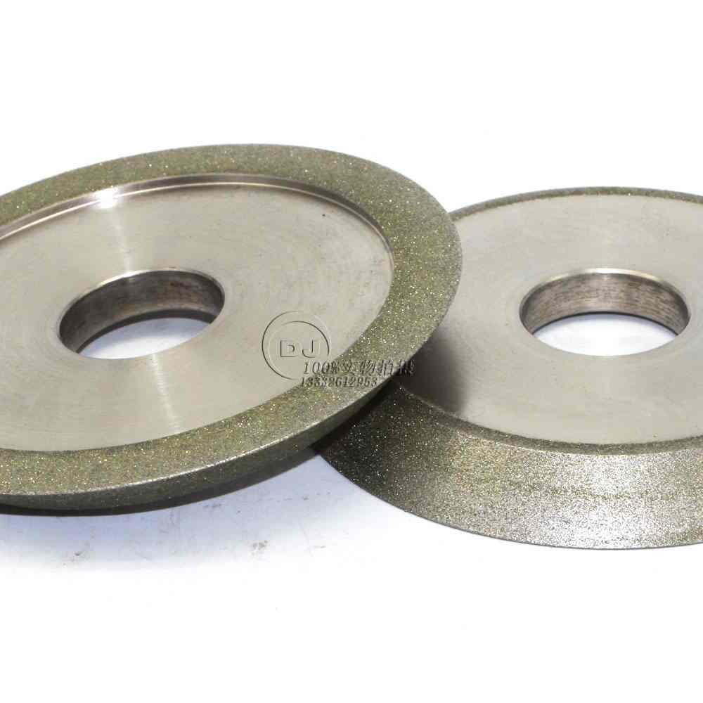 研磨鎢鋼銑刀用電鍍斜邊砂輪 126D*12T*32H*45V 5
