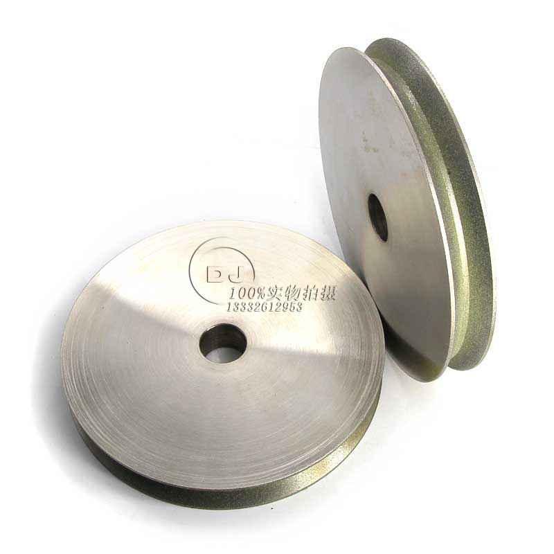 訂做V槽成型電鍍砂輪1EE1V-150D*25T*32H*90V*3X SDC180P 4