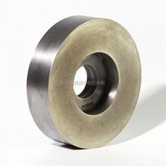 订做6A2杯形端面磨电镀金刚石氮化硼砂轮  300外径合金抛光磨盘