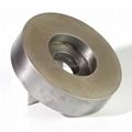 訂做6A2杯形端面磨電鍍金剛石氮化硼砂輪  300外徑合金拋光磨盤 2
