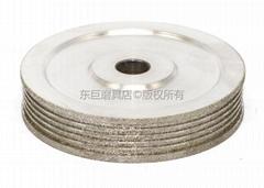东莞订做异型多槽电镀CBN砂轮 成型专用无需修整
