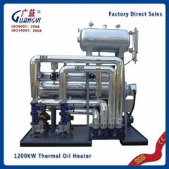industrial electrical horizontal thermal oil heater for chemical industry