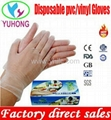 disposable vinyl gloves powdered and powder free clear for medical examination  1