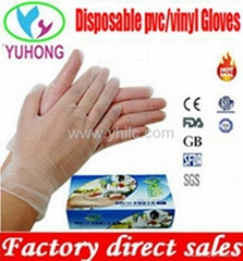 disposable vinyl gloves powdered and powder free clear for medical examination