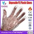 PE plastic gloves stretch poly TPE