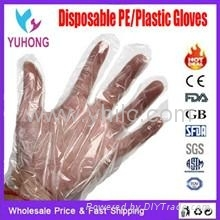 PE plastic gloves stretch poly TPE