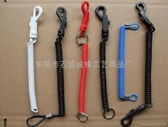 供應電話線形塑料彈力繩。