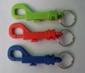 塑料弹簧P字型钥匙箱包广告匙扣