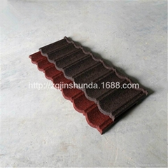 Nigeria stone chip coated steel roofing roof tiles for residential house