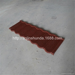 house  decoration corrugated stone chip coated metal roof tiles