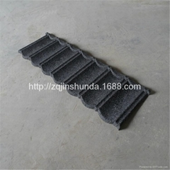 stone chip coated steel roofing lightweight roof tiles