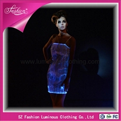 party events suppliers wholesale dresses with led spotlight