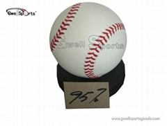 cowhide leather match baseball without wooden holder