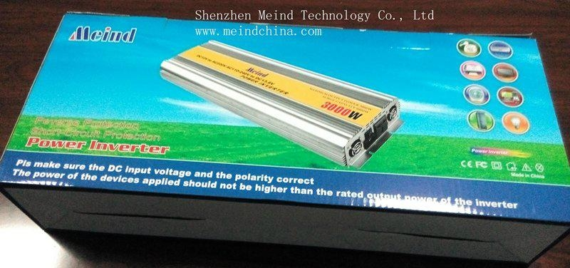 3000W Power Inverter with Charger AC Converter Watt Inverter Power Supply Meind 5