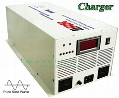 Pure Sine Wave Built-in Charger Digital Display DC to AC 3000W Power Inverter