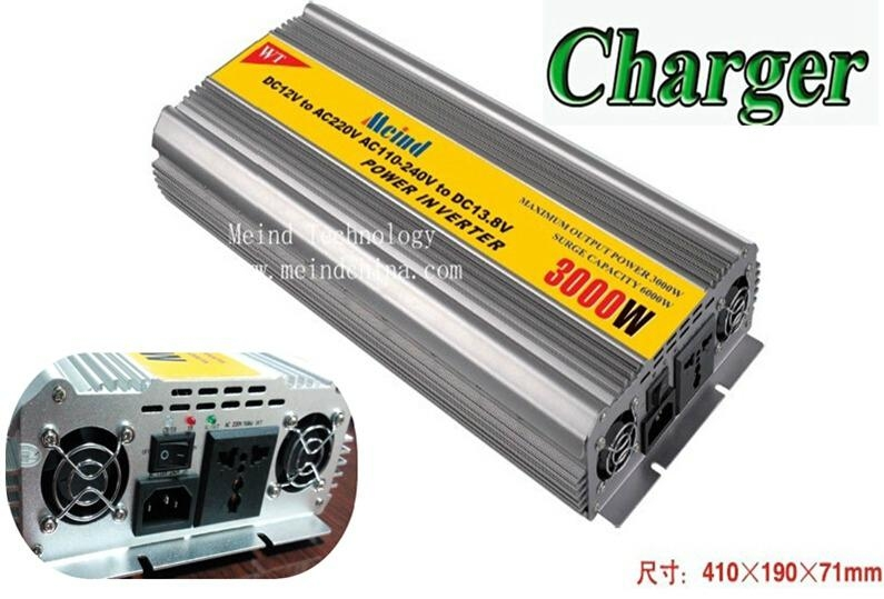 3000W Power Inverter with Charger AC Converter Watt Inverter Power Supply Meind 1