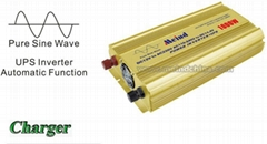 Pure Sine Wave Built-In Charger UPS DC to AC Continuous 1000W Power Inverter