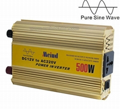 Sufficient 500W Pure Sine Wave DC to AC Universal Socket Power Inverter